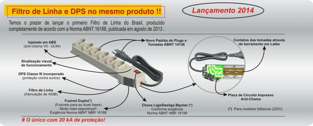 Lançamento Filtro de Linha Embrastec 2014 a